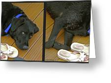 Black Lab - Gently Cross Your Eyes And Focus On The Middle Image Greeting Card