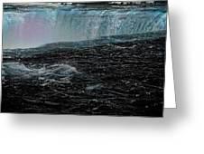 Black Niagara Greeting Card by Richard Ricci