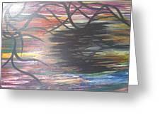 Black Dream Greeting Card