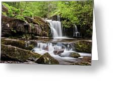Blaen Y Glyn Waterfalls Greeting Card
