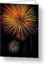 Blooming Fireworks Greeting Card