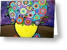 Blooms 6 Greeting Card by Pristine Cartera Turkus