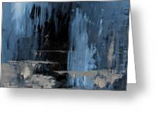 Blue Abstract 12m2 Greeting Card