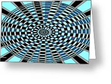 Blue And Black Abstract Greeting Card