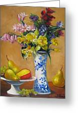 Blue And White Vase Greeting Card