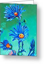 Blue Daisies Greeting Card