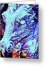 Blue-dragon Greeting Card by Ramon Labusch
