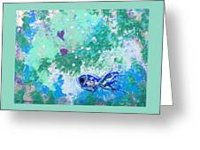 1 Blue Fish Greeting Card