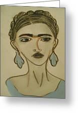 Blue Frida Greeting Card