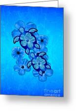 Blue Hibiscus And Honu Turtles Greeting Card