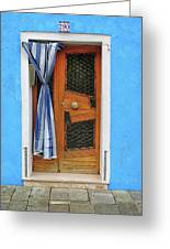 Blue In Burano Greeting Card