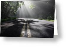 Blue Ridge Parkway North Carolina Greeting Card