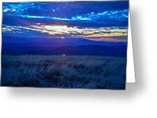 Blue Ridge Sunset Greeting Card