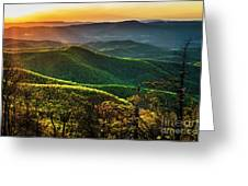 Blue Ridge Sunset Greeting Card