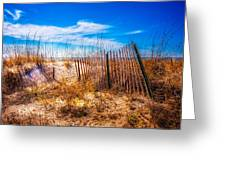 Blue Sky Over The Dunes Greeting Card