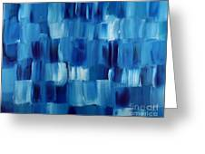 Blue Thing Greeting Card by KR Moehr