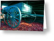 Blue Wagon Greeting Card