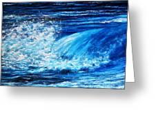 Blue Waves Greeting Card