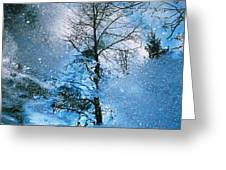 Blue Winter - From The Cycle - Straight From The Plate Greeting Card