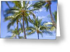 Blurry Palms Greeting Card