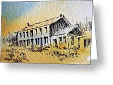 Boardinghouse Cable Ghost Town Montana Greeting Card