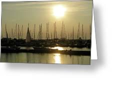 Boat Docks  Greeting Card
