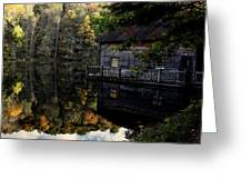 Boat-house Greeting Card