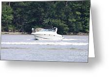 Boat On The Hudson Greeting Card
