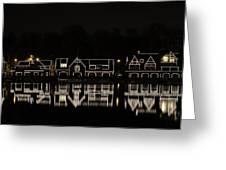 Boathouse Row - Philadelphia Greeting Card by Brendan Reals