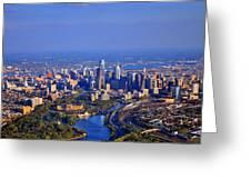 1 Boathouse Row Philadelphia Pa Skyline Aerial Photograph Greeting Card