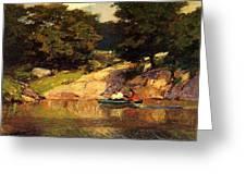 Boating In Central Park Edward Henry Potthast Greeting Card
