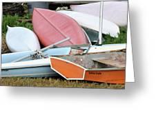 Boats Boats And More Boats Greeting Card