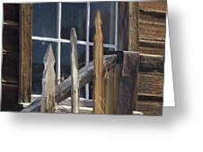 Bodie Picket Fence And Window Greeting Card