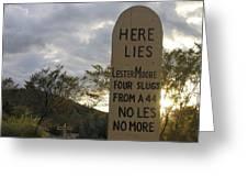 Boothill Graveyard Tombstone Arizona 2004 Greeting Card