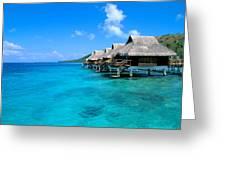 Bora Bora Lagoon Resort Greeting Card