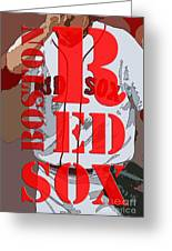 Boston Red Sox Original Typography  Greeting Card