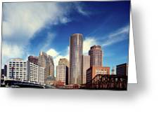 Boston Skyline 1980s Greeting Card