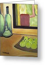 Bottles And Pears No 2 Greeting Card