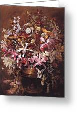 Bouquet Of Orchids Greeting Card
