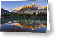 Bow Lake And Crowfoot Mountain Greeting Card