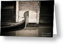 Bow Of A Gondola, Venice, Italy, Europe Greeting Card