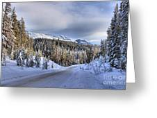 Bow Valley Parkway Winter Conditions Greeting Card