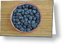Bowl Of Fresh Blueberries Greeting Card