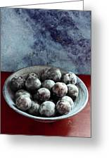 Bowl Of Plums Still Life Greeting Card