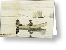 Boys Fishing Greeting Card