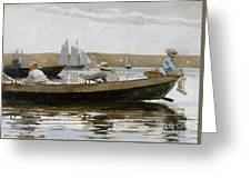 Boys In A Dory, 1873  Greeting Card