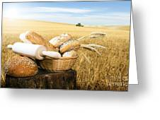 Bread And Wheat Cereal Crops Greeting Card by Deyan Georgiev