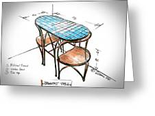 Breakfast Table And Chairs Greeting Card