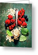 Breakfast With Oats And Berries Greeting Card