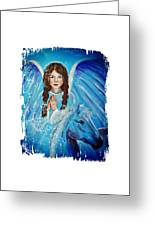 Brianna Little Angel Of Strength And Courage Greeting Card